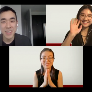 Julia Ran (MS2) and Amanda Zhang (MS2) relayed COVID-19 questions from BFC to Dr. Jonathan Lio, hospitalist at University of Chicago Medicine, over Zoom.